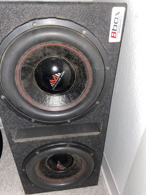 subs for sale 10inch with amp asking 110$ for Sale in Phoenix, AZ