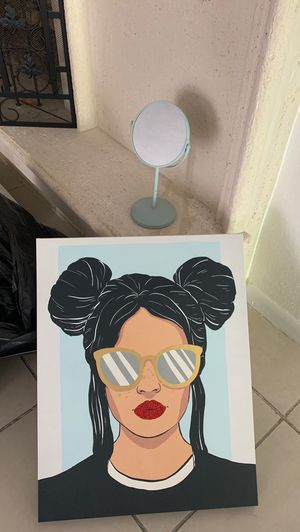 Wall canvas + matching mirror for Sale in Miami Beach, FL