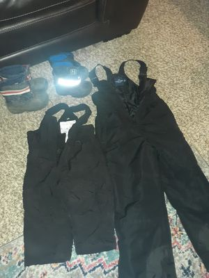Boys Snow Pants & Boots for Sale in Puyallup, WA