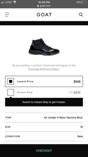 Jordan Retro 11 Gamma Blue for Sale in Reedley, CA