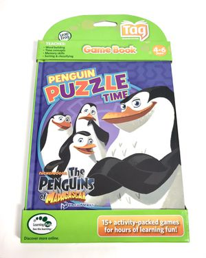 The Penguins of Madagascar Puzzle Time LeapFrog Tag Kids Game Book for Sale in Los Angeles, CA