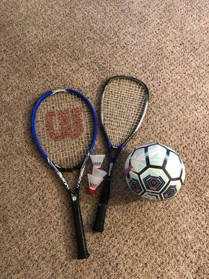 Tennis racquet, squash racket, football for Sale in Bellevue, WA