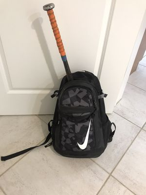 Baseball Bat, glove and Nike backpack for Sale in Boynton Beach, FL