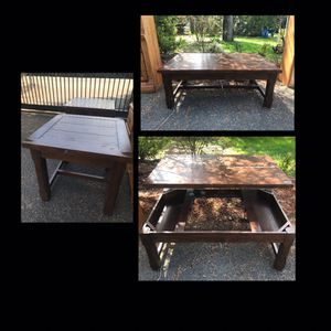 Old cannery living set. Pop up table and 2 sides. Make me an offer for Sale in Bonney Lake, WA