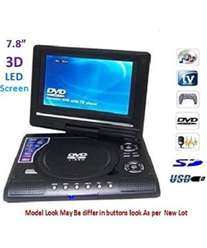 ZVision 3D 7.8 Inch Portable DVD VCD CD Player MP3 MP4 Color TV USB Memory Card Slot for Sale in Rialto, CA