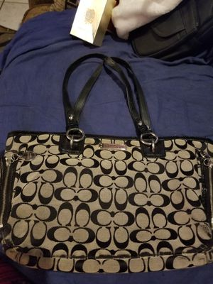 Black coach purse for Sale in Plant City, FL