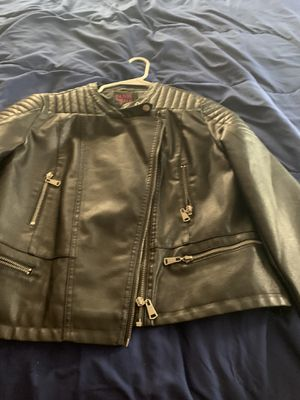 1X leather motto jacket for Sale in Milwaukee, WI