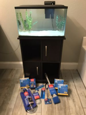 Aquarium/Fish tank with stand and extras. for Sale in Kissimmee, FL
