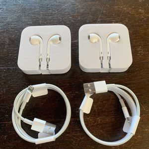 Apple Lightning Cables + Headphones for Sale in Danville, CA