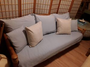 Absolutely unique bamboo daybed/couch with single mattress and cushions included in great condition, never used outdoors for Sale in Jupiter, FL