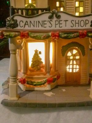 """""""Canine's Pet Shop"""" (Lighted Christmas Ceramic 9 1/2 Tall) for Sale in MIDDLEBRG HTS, OH"""