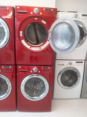 Lg steamers washer and dryer used good condition 90days warranty 🔥🔥 for Sale in Mount Rainier, MD