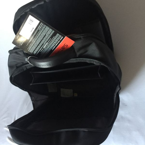 "Samsonite 3 Laptop Backpack, 12""X 8""X 17.5"", Ballistic Polyester, Black"