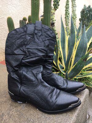 Genuine Zodiac Black Leather Boots Men's 9 1/2 for Sale in West Covina, CA