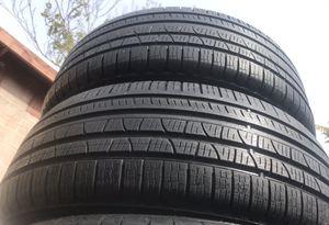 (2) Pirelli 235/60R18 scorpion verde used tires 235/60/18 for Sale in Pomona, CA