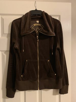 BRAND NEW!! Women's Michael Kors Zip-up jacket Color: Brown/Gold Size:Medium Retail:$99.00 Pick up only 77090 area No Trades for Sale in Houston, TX
