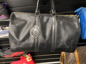 Louis Vuitton black keep all 45 duffel bag for Sale in Portland, OR