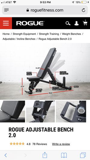 ROGUE ADJUSTABLE WEIGHT BENCH 2.0 for Sale in Wesley Chapel, FL