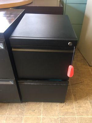 Pedestal Filing Cabinet. $49 each. Key $10 more. for Sale in Tampa, FL