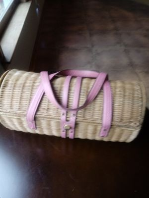 Kate Spade Straw and Leather Strap Bag for Sale in Washington, DC