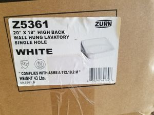 """Zurn 20×18"""" high back wall hung lavatory for Sale in Erie, PA"""