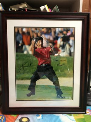 Tiger Woods Autographed 2008 US Open Champ for Sale in Queens, NY