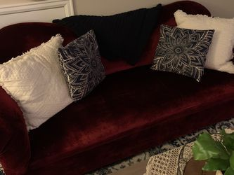 Vintage red velvet couch for Sale in Lake Oswego,  OR
