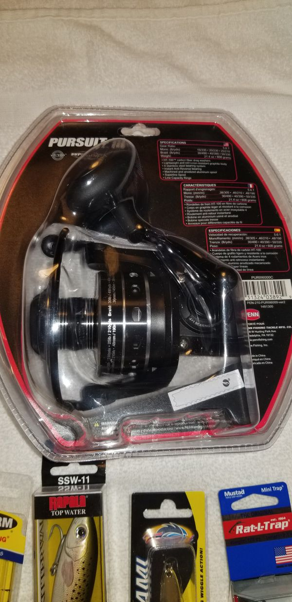 NEW Penn Pursuit III 6000 Spinning reel with one free lure