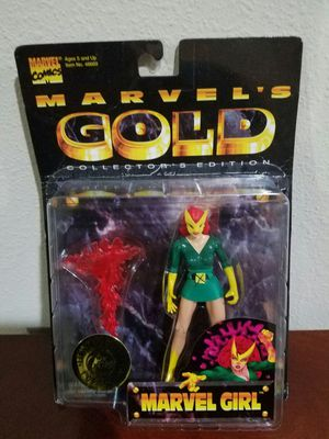 Jean Grey as Marvel Girl Marvel Gold Marvel Comics ToyBiz RARE VINTAGE COLLECTABLE Action Figure for Sale in Thonotosassa, FL