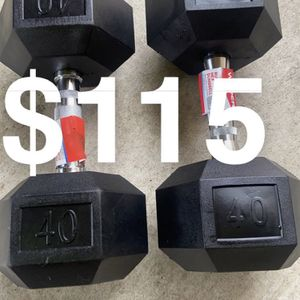 40 pound Dumbbells for Sale in Salinas, CA