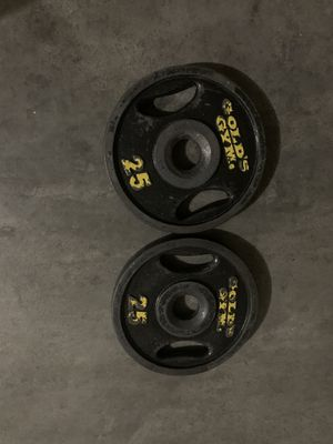 Olympic weights gold's gym 2 inch for Sale in North Las Vegas, NV