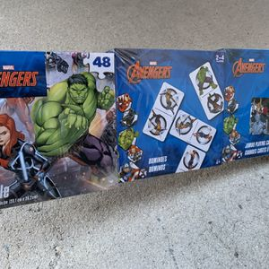 Marvel Avengers 3 Game Bundle Pack - Puzzle, Dominos And Jumbo Playing Cards - Fun Kids Toys Superhero's Avengers Games - Brand New for Sale in Fort Lauderdale, FL