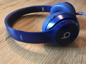 Beats By Dre Solo Beats Wired Headphones (Blue) for Sale in Boulder, CO