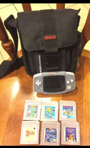 Nintendo Gameboy Advance with case and 6 games for Sale in Fort Washington, MD
