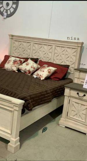 🍾🍾 Best Offer ‼ SPECIAL] Bolanburg Antique White Louvered Panel Bedroom Set 84 for Sale in Jessup, MD