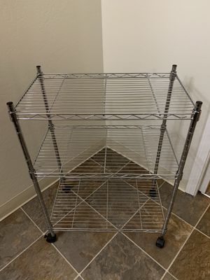 3 tier metallic storage shelf for Sale in Mountain View, CA