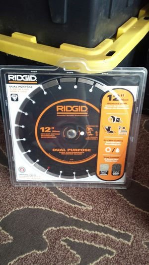 "Ridgid 12"" Dual Purpose Diamond Blade ($87.22 at Home Depot) Asking - $60 for Sale in Everett, WA"