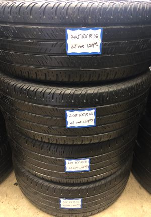 🎃🍂SET OF 4 USED TIRES🎃🍂 205/55/16 CONTINENTAL for Sale in Paramount, CA