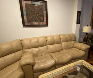 Leather Sectional sofa with recliners for Sale in Alexandria, VA