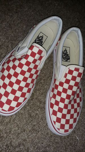 Red checkered vans for Sale in San Diego, CA