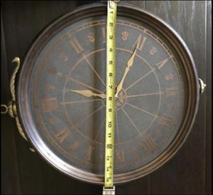 Antique Movt-USA Clock Copper Wall Decor Double Inner Storage Box for Sale in Palm Harbor, FL