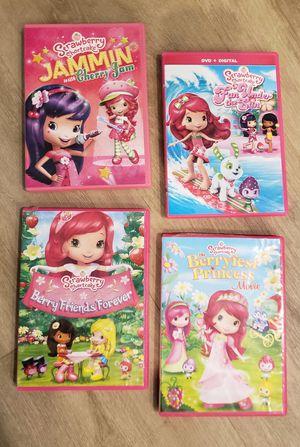 4 Strawberry Shortcake DVD's for Sale in Coral Springs, FL