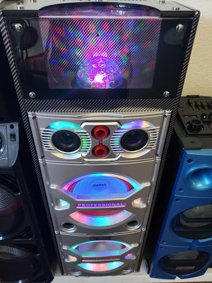Bocina Nueva BLUETOOTH !!! Profesional Disco Ball LED Bluetooth Speaker Tower Karaoke With Disco Lights 🎆🎉🌈 ( Con Bajo Super FUERTE 🔊🔊🔊) !!! ) for Sale in Los Angeles, CA