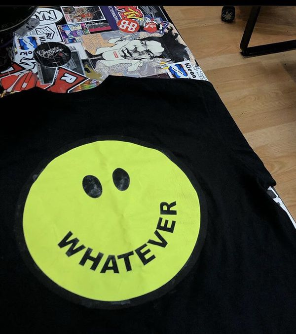 """Supreme """"whatever"""" tee size medium and large"""