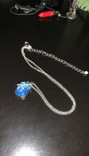 Silver and blue necklace for Sale in Lakewood, CO