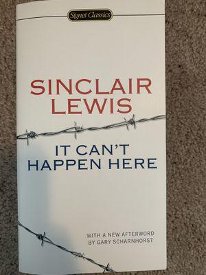 Sinclair Lewis Book for Sale in Auburn, WA