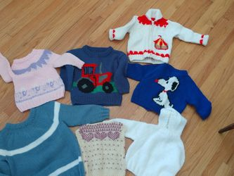 Newborn- Age 6 Hand-knit Sweaters for Sale in North Andover,  MA