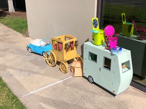 American girl Doll camper carriage vw bug and salon for Sale in Laguna Beach, CA