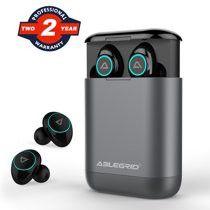 Wireless Earbuds, ABLEGRID Bluetooth 5.0 TWS True Wireless Headphones with 400mAh Charging Box Hi-Fi Earbuds with Mic for Sale in FERNANDINA, FL