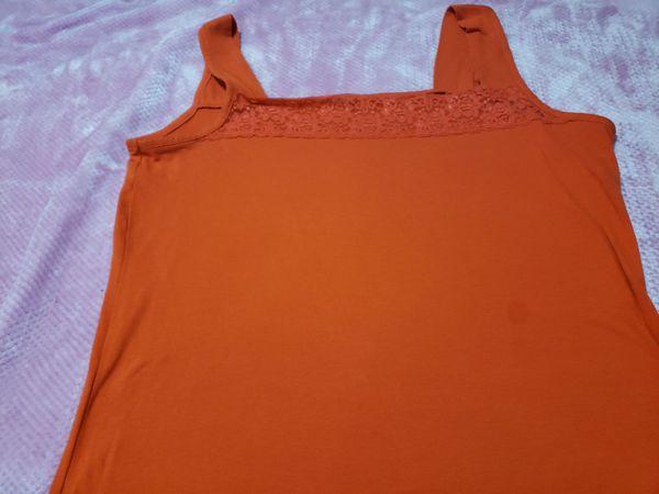 Orange tang top